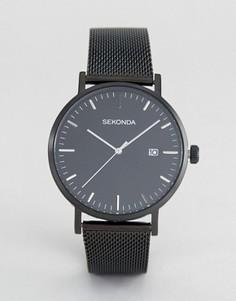 Черные часы с сетчатым ремешком Sekonda Minimalist эксклюзивно для ASOS - Черный