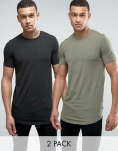 Длинная обтягивающая футболка Jack & Jones Core СКИДКА - Зеленый