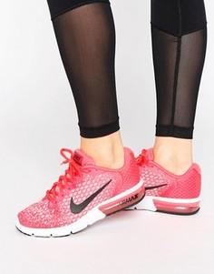 Розовые кроссовки Nike Running Air Max Sequent - Розовый