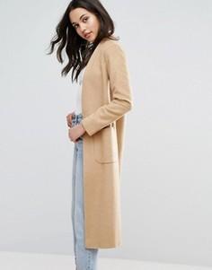 Легкое длинное пальто с добавлением шерсти Helene Berman - Коричневый