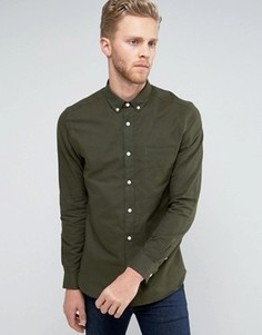 Оксфордская рубашка узкого кроя Burton Menswear - Зеленый