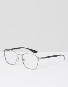 Очки с прозрачными стеклами Ray Ban - Серебряный