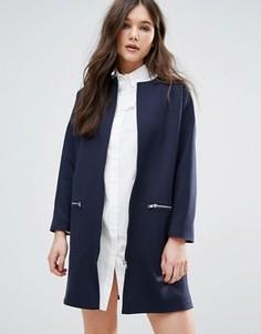 Пальто на молнии Helene Berman - Темно-синий