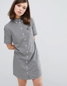 Платье-рубашка в клеточку Fred Perry Authentic - Черный