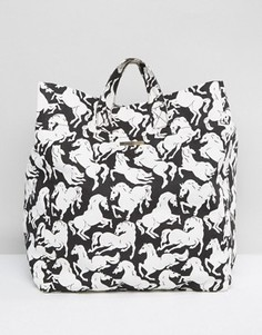 Пляжная сумка с конями Stella McCartney - Мульти
