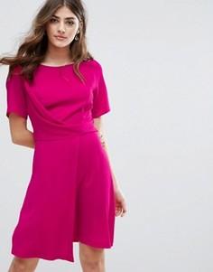 Платье мини с драпировкой New Look - Розовый