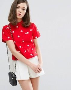 Рубашка для боулинга в горошек Fred Perry Amy Winehouse Foundation - Красный
