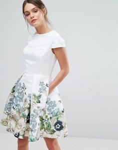 Короткое приталенное платье Ted Baker Yvetta - Белый
