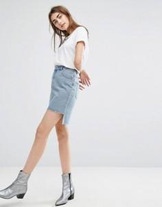 Джинсовая юбка с асимметричным подолом Cheap Monday - Синий