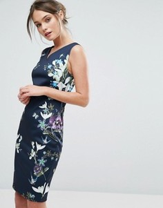 Платье миди Ted Baker Katiey Spring Meadows - Темно-синий