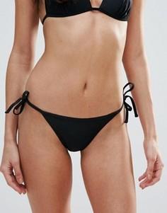 Плавки-бикини с завязками по бокам New Look - Черный