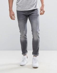 Серые выбеленные джинсы скинни Esprit - Серый