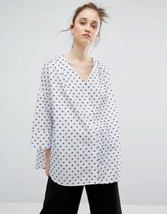 Жаккардовая рубашка в горошек Weekday - Мульти