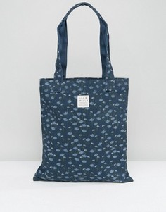 Темно-синяя сумка-тоут с цветочным принтом Jack Wills - Темно-синий