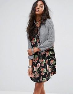 Цельнокройное платье с принтом Boohoo - Мульти