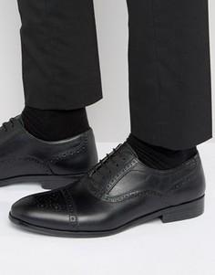 Черные строгие броги на шнуровке Red Tape - Черный