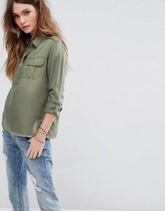Рубашка в стиле милитари Hollister - Зеленый