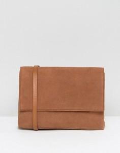 Коричневая замшевая сумка через плечо Jack Wills - Рыжий