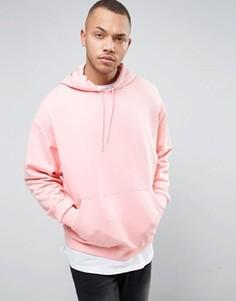Свободное розовое худи ASOS - Розовый