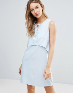 Платье с завязкой спереди Fashion Union - Синий