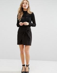 Юбка-шорты с поясом New Look - Черный