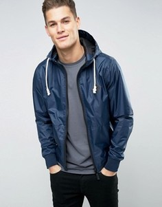 Нейлоновая куртка на молнии с капюшоном Blend - Темно-синий