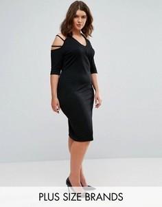 Платье с лямками на рукавах Pink Clove - Черный
