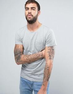 Однотонная футболка с карманом на груди Lee - Серый