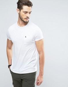 Винтажно-белая узкая футболка с логотипом на кармане Jack Wills Ayleford - Белый