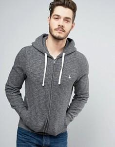 Худи темно-серого цвета с логотипом Jack Wills Pinebrook - Серый