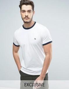 Белая футболка Jack Wills Baildon Ringer - Белый