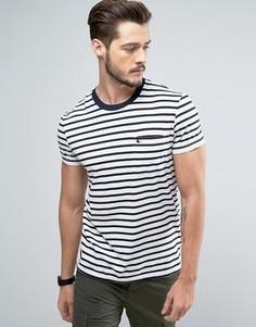Белая узкая футболка с карманом Jack Wills Camberwell - Белый