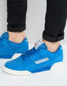 Синие кроссовки в винтажном стиле Reebok Workout Plus BD3382 - Белый