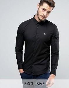 Черная рубашка скинни Jack Wills Hinton - Черный