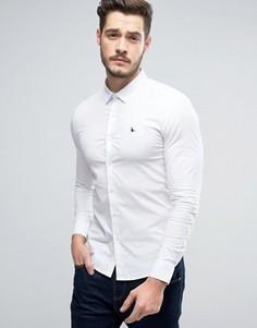 Белая рубашка скинни Jack Wills Hinton - Белый