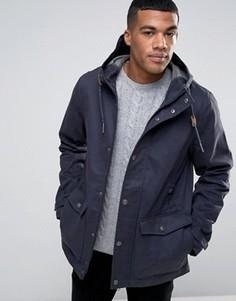 Пальто с капюшоном и пуговицами моржовый клык Threadbare - Темно-синий