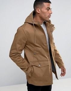 Пальто с капюшоном и пуговицами моржовый клык Threadbare - Рыжий
