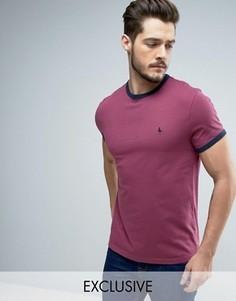 Ягодно-красная футболка Jack Wills Baildon Ringer - Розовый