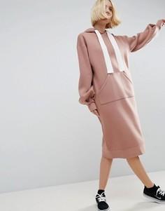 Платье-худи ASOS WHITE - Розовый