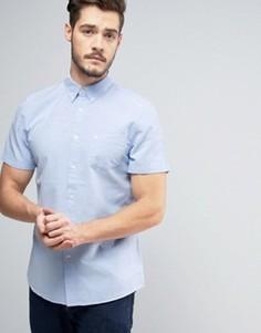 Оксфордская рубашка классического кроя с короткими рукавами Jack Wills Stableton - Синий