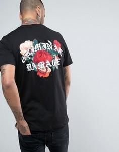 Черная футболка с цветами на спине Criminal Damage - Черный