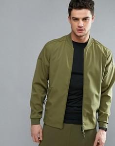 Зеленая спортивная куртка Adidas ZNE B49253 - Зеленый