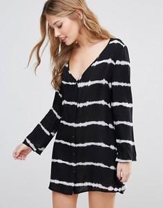 Платье с принтом тай-дай Influence - Черный