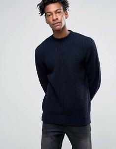 Джемпер крупной вязки Minimum Keale - Темно-синий