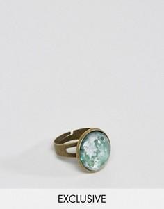 Золотистое кольцо с камнем Reclaimed Vintage - Золотой