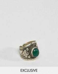 Серебристое кольцо с камнем Reclaimed Vintage - Серебряный