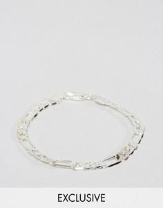 Серебристый браслет-цепочка с крупными звеньями Reclaimed Vintage Inspired - Серебряный