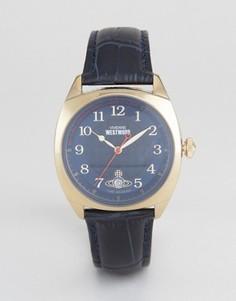 Часы с темно-синим кожаным ремешком Vivienne Westwood VV175BLBL - Темно-синий