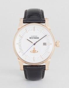 Часы с черным кожаным ремешком Vivienne Westwood VV065SWHBK - Черный