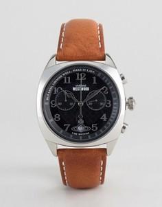 Часы со светло-коричневым кожаным ремешком Vivienne Westwood VV176BKTN - Рыжий